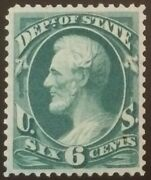 O60 6c State Dept., Original Gum, Reperf, Appears Nh And Xf, 2019 Crowe Cert