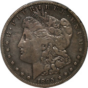 1895-s Morgan Silver Dollar Pcgs Vf20 Great Color Nice Strike