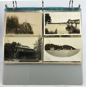 Lot Of 36 Antique Real Photograph Postcards Of Adirondack Area Upstate Ny