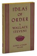 Ideas Of Order Wallace Stevens First Edition 1st Printing 1936
