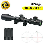 Sniper Ck4-16x50 First Focal Plane Rifle Scope R/g Illuminated Reticle 30mm Tube