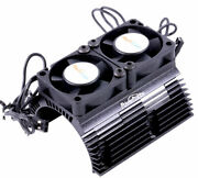 Powerhobby Heat Sink W Twin Turbo High Speed Cooling Fans 1/8 Motors Black