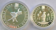 Norway 1991 Winter Olympics 50,100 Kroner Silver Coins,proof