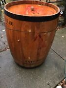 Bass And Co's Pale Ale - Beer Bar Rolling Wooden Keg Cooler Full Size
