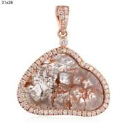 18k Rose Gold 5.78ct Natural Diamond Unshaped Pendant Antique Jewelry Gift