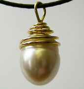 18mm Aust White South Sea Pearl +18ct Yellow Gold Pendant +appraisal Available