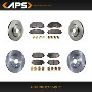 Front And Rear Ceramic Brake Pad And Rotor Kit For 2014-2018 Dodge Journey