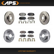 Front And Rear Ceramic Brake Pads And Rotors For Kia Optima Fwd