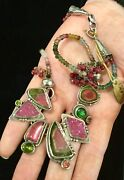 Phenomenal Echo Of The Dreamer, New With Tags, Tourmaline, Ruby And Drusy Necklace