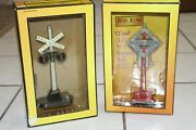 Rail King No. 69n Warning Bell And No 154 Automatic Highway Signal Lot O Scale