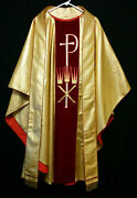 Sparkly Gold Chasuble And Stole Crown Xp Festive Priest Vestments Church Clergy