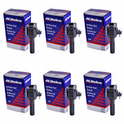 Set Of 6 Acdelco Bs-c1558 Ignition Coil For Chevrolet Gmc Hummer Buick 06-12