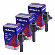 Set Of 3 Acdelco Bs-c1558 Ignition Coil For Chevrolet Gmc Hummer Buick 06-12