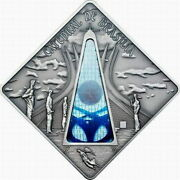 Palau 2012 Cathedral Of Brasilia 10 Dollars Colour Silver Coin