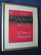 Original Artwork For 1st Ed. Jacket For The Vagrant Mood By W. Somerset Maugham