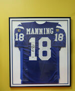 Wall Of Fame Certified Signed Peyton Manning Rookie Wilson Colts Jersey