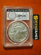 2017 W Burnished Silver Eagle Pcgs Sp70 Cleveland Veterans First Day Of Issue
