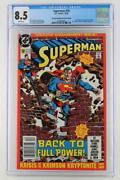 Superman 50 - Cgc 8.5 -dc 1990- Newsstand/2nd Print - Clark And Lois Get Engaged