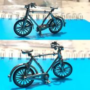 Antique Style Novelty Sterling Solid Silver Miniature Doll House Bicycles Figure