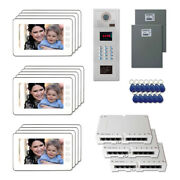 Apartment Unit Door Entry Video Intercom System Kit With 13 7 Color Monitor