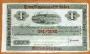 Jersey Town Vingtaine Of St. Helier 1 Pound Nd 1800s P-s241 Xf+ Rare