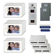 Multi Tenant Access Video Entry Intercom System Kit With 13 7 Color Monitor