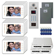 New Office Entry Door Panel Video Intercom System Kit With 12 7 Color Monitor