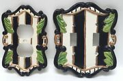 Cast Iron Electrical Plug Outlet Cover Double Light Switch Plate Set Whimsical