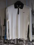 Agassi Label Nike Shirt Long Sleeve Menand039s Size Us S Usa Made Vintage 1998