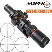 Sniper Vt1-5x24 First Focal Plane Riflescope W/ Red/green Illuminatted Reticle