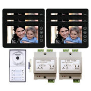 Building Security Video Intercom System 6 Tenant Kit 7 Inch With Color Monitor