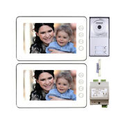 Multi Family Home Security Video Intercom System 2 Wire Kit With 2 Color Monitor