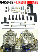 Quick Fuel Q-650-b2 650 Cfm Clear Blower Supercharger Carbs Fuel Lines Linkage