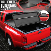 For 94-04 Chevy S10 Gmc Sonoma Fleetside 6and039 Bed Tri-fold Soft Top Tonneau Cover