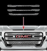 19-20 Gmc Sierra 1500 Slt At4 Chrome Snap On Grille Overlay Grill Covers Inserts