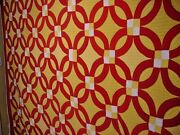 Wild Crazy Vintage Wedding Ring Quilt Matching Thread To Fabric Color