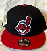 Cleveland Indians Mlb New Era 59fifty Retro Chief Wahoo Logo Fitted Hat/cap Nwt