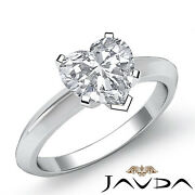 Heart Diamond Engagement Gold Ring Gia F Si2 Knife Edge Solitaire 1.02 Ct.