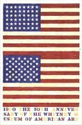 Jasper Johns 1979 Double Flag Limited Edition Lithograph Poster