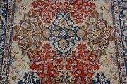 1920and039s Antique Vegetable Dye Geometric Tabriiz Area Rug Collectible Rust 7and039x10and039