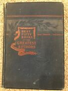 Antique Book 1896 Best Fifty Books Of The Greatest Authors Free Us Priority Ship