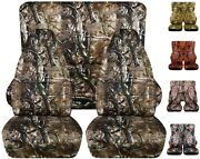 Front And Rear Car Seat Covers Fits Jeep Wrangler Yj-tj-lj 1985-2006 Camouflage