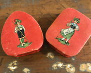 Pair Antique Vintage German Candy Containers Sweet
