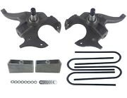 2 Front 2 Rear Suspension Lowering Kit Drop Spindles And Blocks For S10 2wd