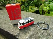 Official Vw Classic Volkswagen Bus Samba T1 Bulli Keychain Red/cream Led Lamps