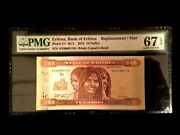 Eritrea 10 Nakfa 2012 Banknote World Paper Money Unc Currency - Pmg Certified