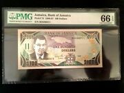 Jamaica 100 1986 World Paper Money Unc Currency - Pmg Certified
