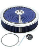 Edelbrock Air Cleaner Assembly Pro-flo 14 In Round 3 In Tall 5-1/8 In Candhellip 43661