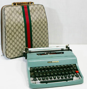 Old Olivetti Vintage Typewriter With Case Working F/s Super Rare Japan