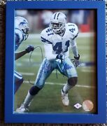 Terrance Newman Autographed And Framed Photo. Dallas Cowboy Collectible